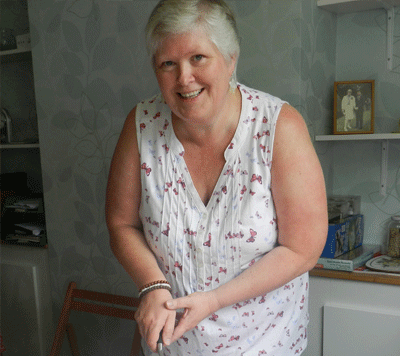 CC Family: Helen at one of her fundraising tea parties