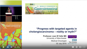 "Professor Juan Valle's presentation, ""Progress with targeted agents in cholangiocarcinoma - reality or myth?"""